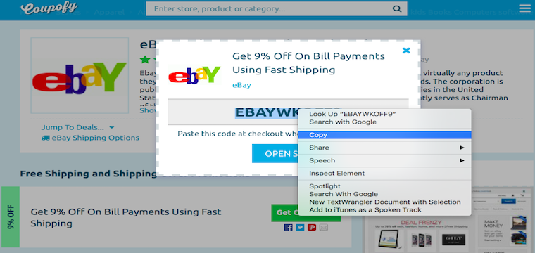 Ebay coupon code july 2018