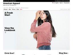 American Apparel screenshot