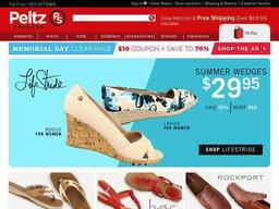 Peltz Shoes screenshot