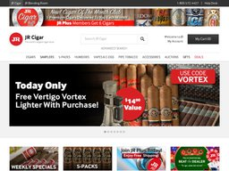 JR Cigars screenshot