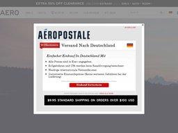 Aeropostale In-Store Coupons screenshot