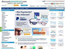 Discount Contact Lenses screenshot