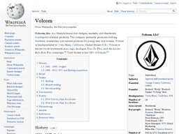 Volcom screenshot