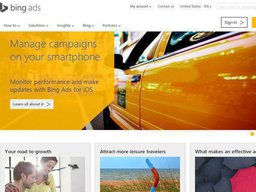 Bing Ads screenshot