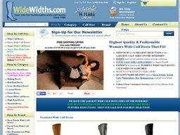 WideWidths.com screenshot