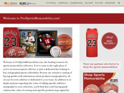 Pro Sports Memorabilia screenshot