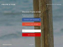 Frank & Oak screenshot