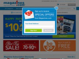 Magazines.com screenshot