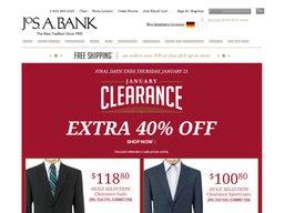 Jos. A. Bank screenshot