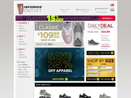 Joe's New Balance Outlet screenshot
