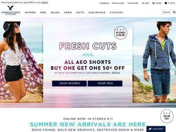 American Eagle Outfitters screenshot