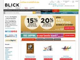 Blick Art Materials screenshot