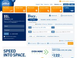JetBlue screenshot