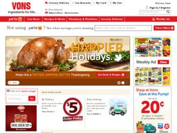Vons.com screenshot