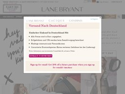 Lane Bryant screenshot