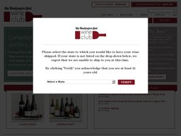 The Washington Post Wine Club screenshot