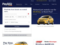 Payless Car Rental screenshot