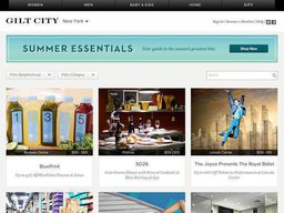 Gilt City screenshot