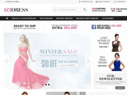 Izidress.com screenshot