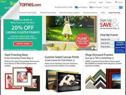 Pictureframes.com screenshot