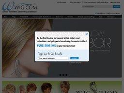 Wig.com screenshot