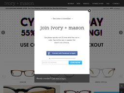 Ivory & Mason Eyewear screenshot