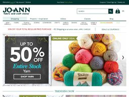 Joann.com screenshot