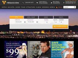 Vegas.com screenshot