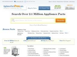 AppliancePartsPros.com screenshot