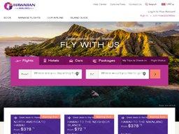 Hawaiian Airlines screenshot