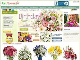 JustFlowers.com screenshot