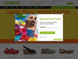 Crocs.com screenshot