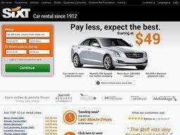 Sixt Car Rental screenshot
