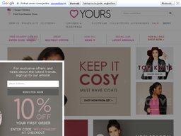 Yours Clothing screenshot