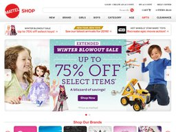 Mattel Shop screenshot