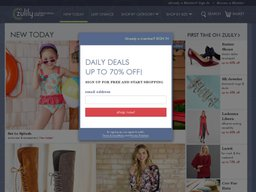 Zulily screenshot