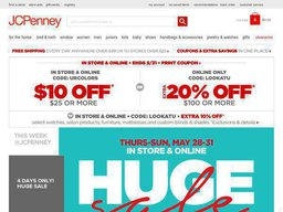 20% OFF + Extra $15 JCPenney Coupon - Verified 32 mins ago!