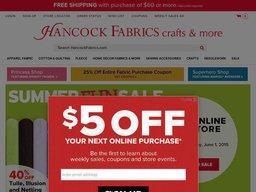 Hancock Fabrics screenshot