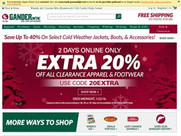 graphic about Printable Gander Mountain Coupons identify 20% OFF + Added $15 Gander Mountain Coupon - Proven 29